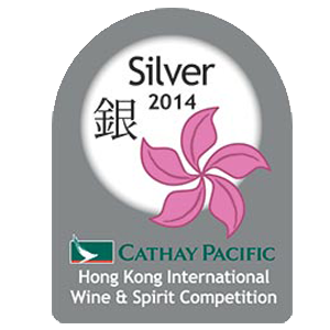 mÉdaille d'argent Hong kong International Wine & Spirit Competition 2014