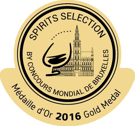 gold medal Spirits Selection by Concours Mondial de Bruxelles 2016