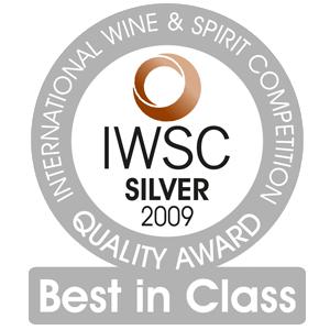 mÉdaille d'argent International Wine & Spirit Competition 2009
