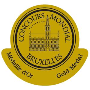 mÉdaille d'or Concours Mondial de Bruxelles 2014