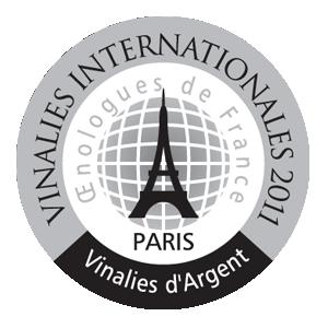 mÉdaille d'argent Vinalies Paris 2011