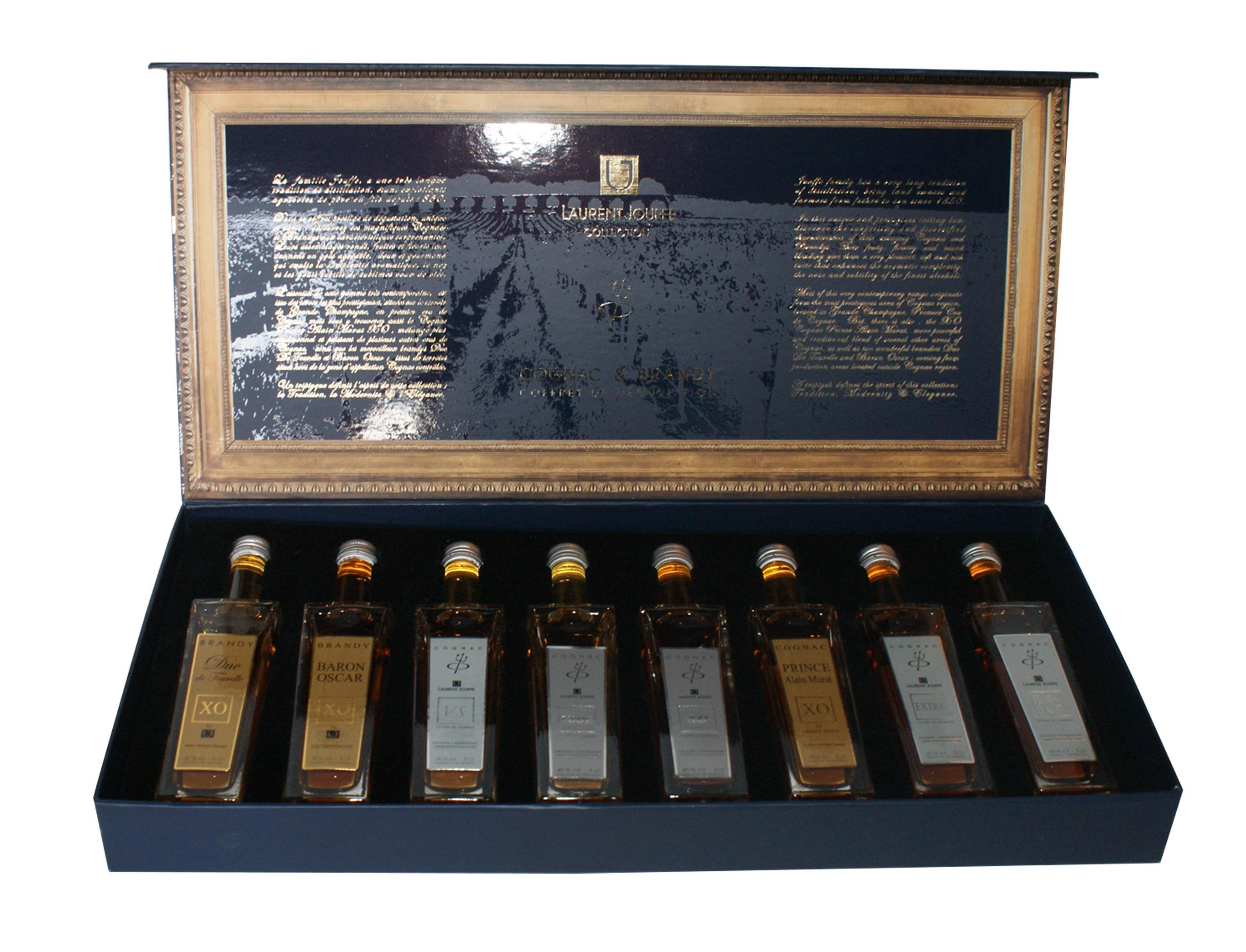 COGNAC : COFFRET DEGUSTATION COGNACS & BRANDIES